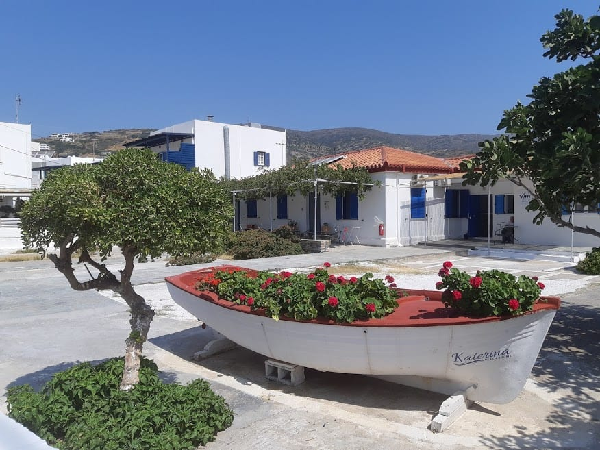 Batsi town in Andros