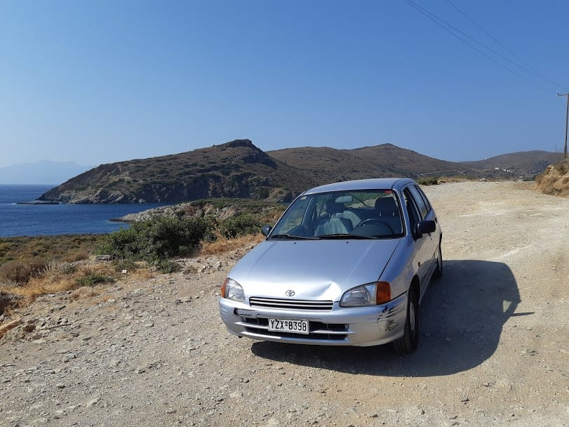 Driving in Andros Greece
