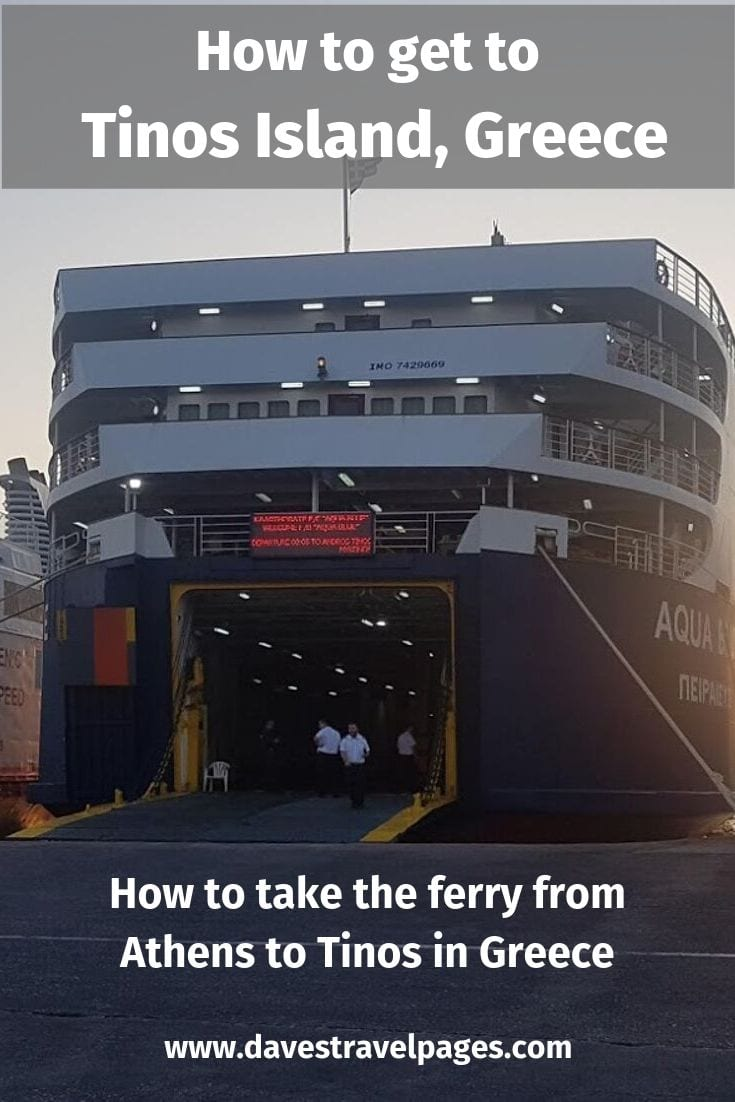 How to take the ferry from Athens to Tinos island in Greece