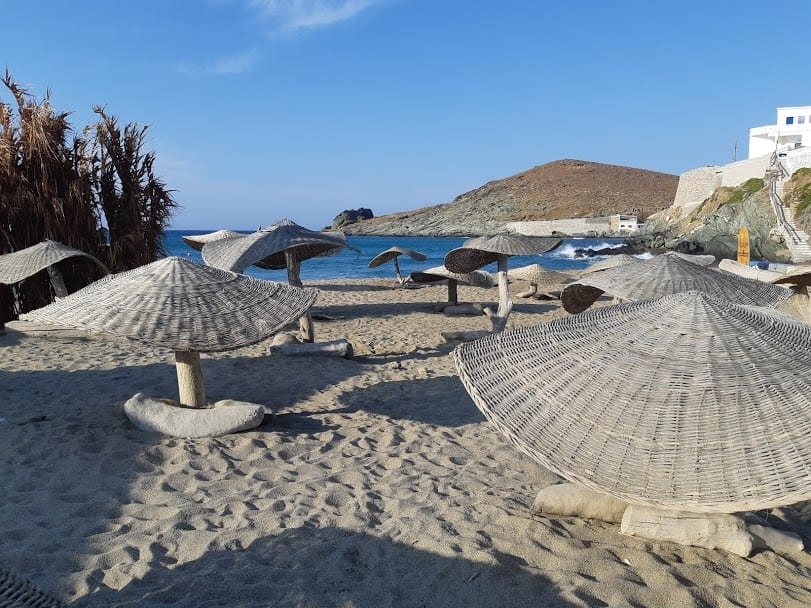 Kolimpithra beach on the island of Tinos