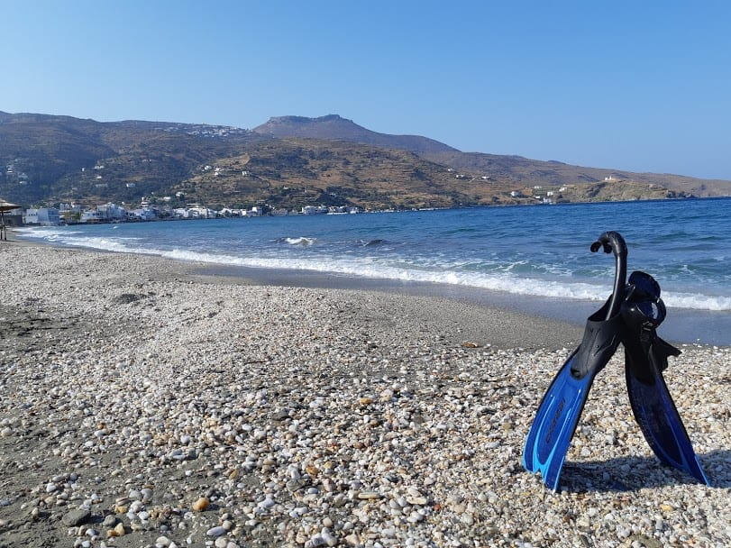 Korthi Beach in Andros