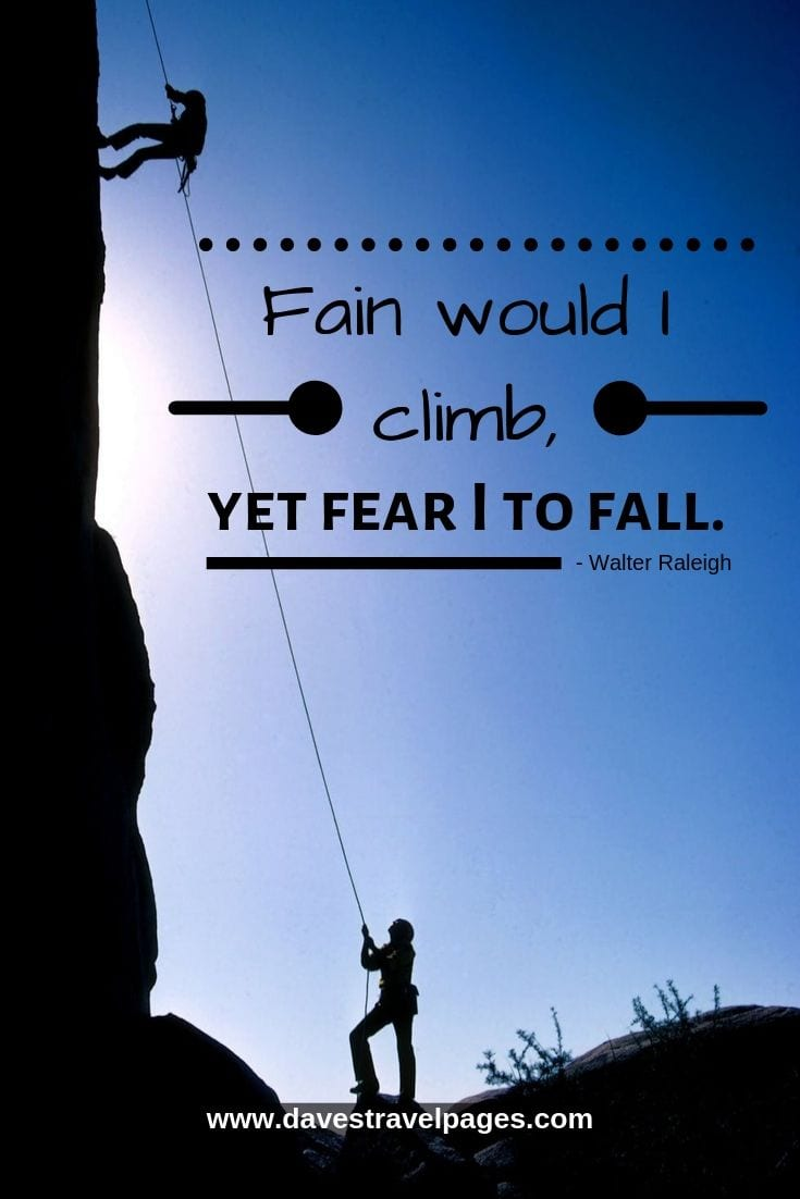 Fain would I climb, yet fear I to fall