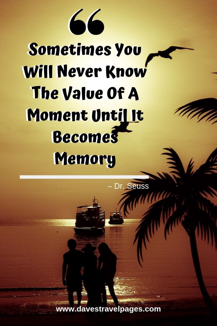 """Quotes that make you think - """"Sometimes You Will Never Know The Value Of A Moment Until It Becomes Memory."""""""