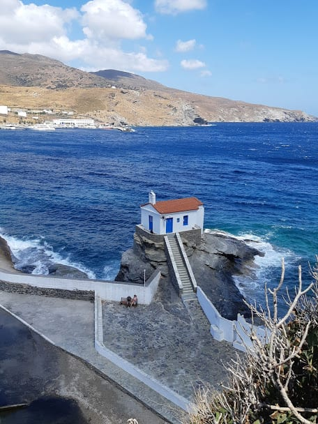 A small church in Chora, Andros