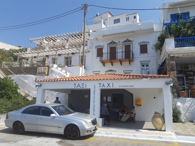 Taxi service in Andros island Greece