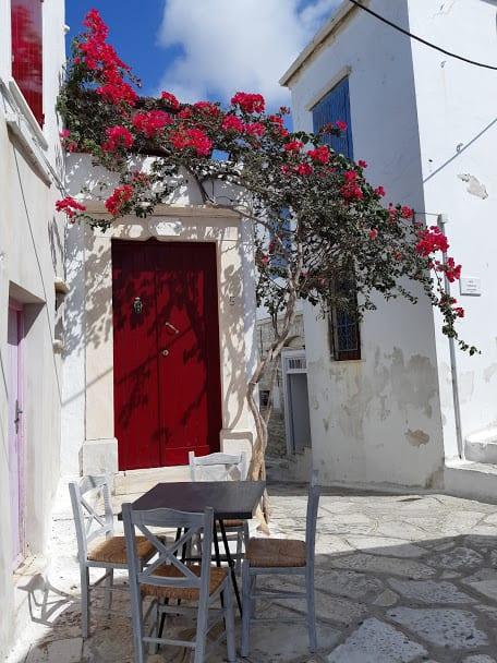 Pyrgos village in Tinos