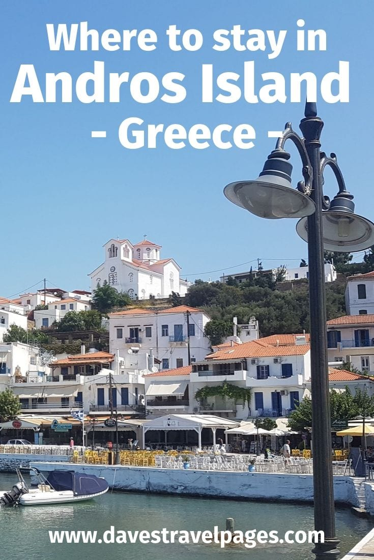 Where to stay in Andros Island Greece