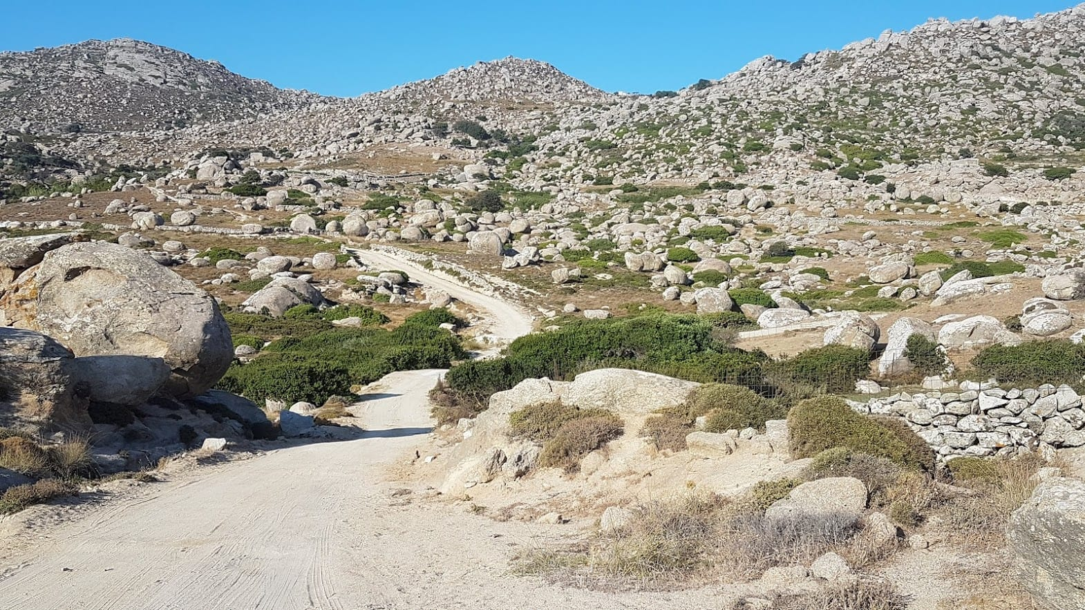 Driving in remote areas of Tinos