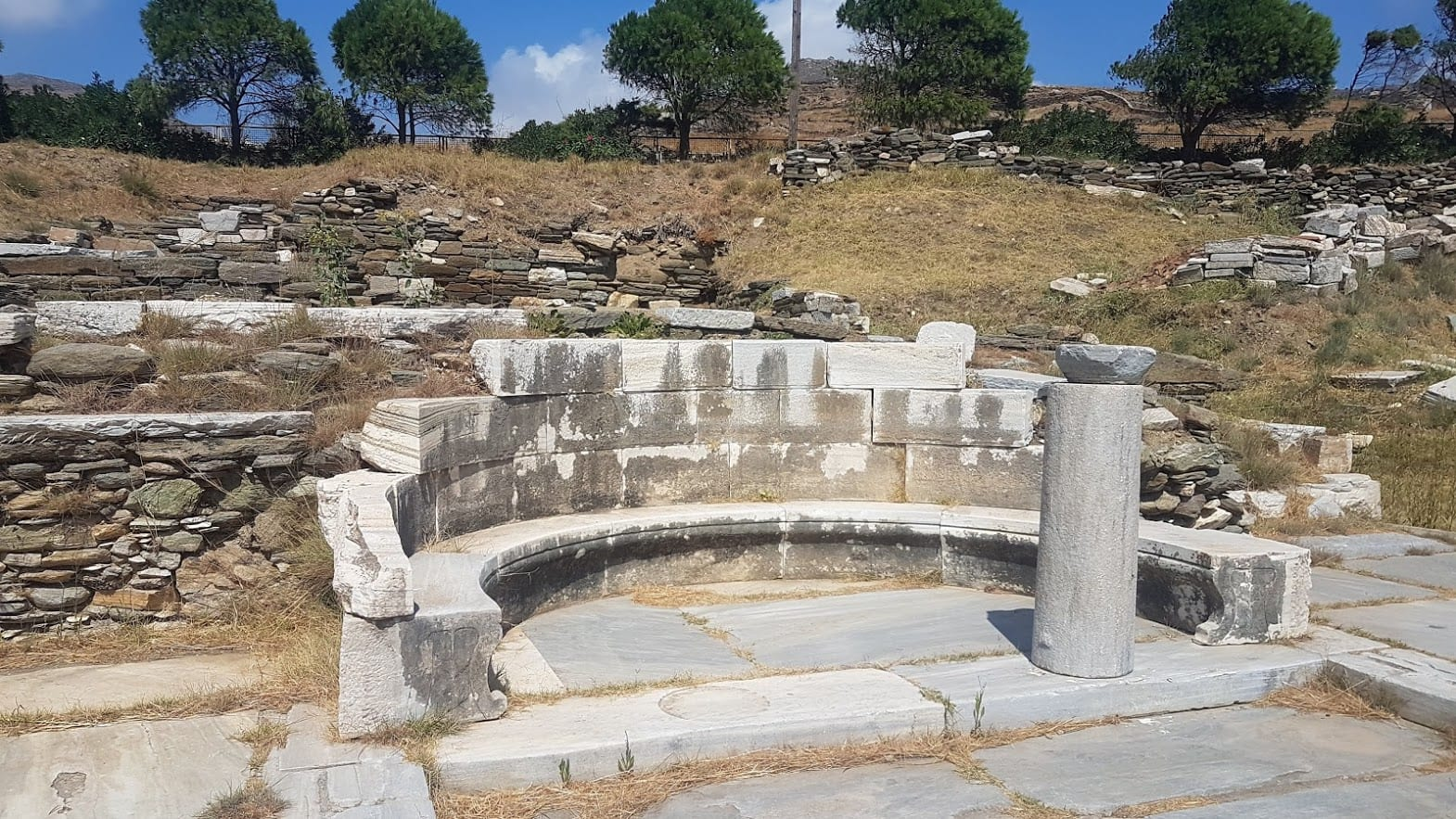 Small archaeological site in Tinos