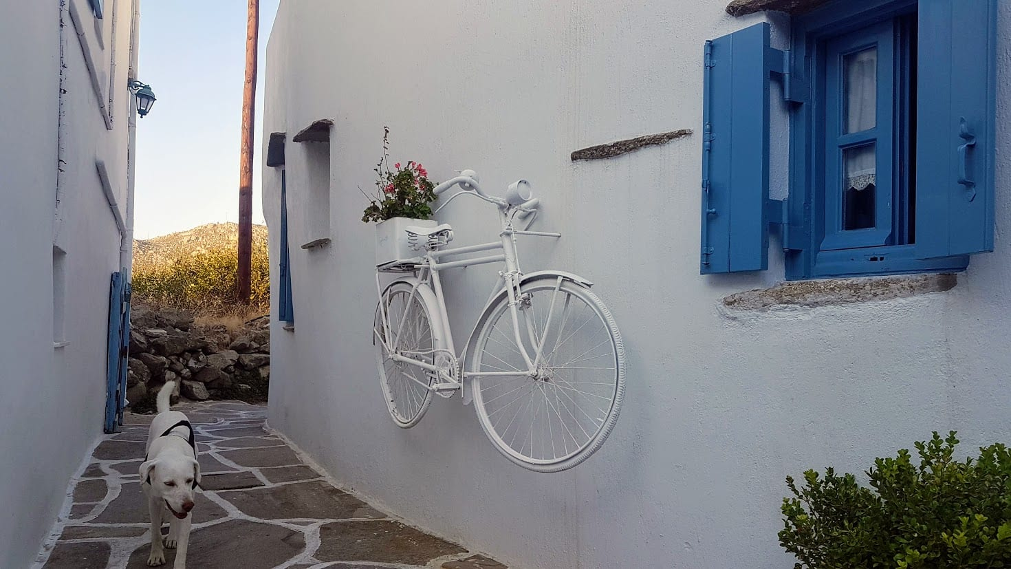 A side street of one of the villages of Tinos