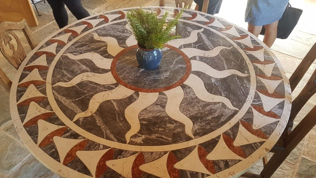Table designed by Patrick Leigh Fermor