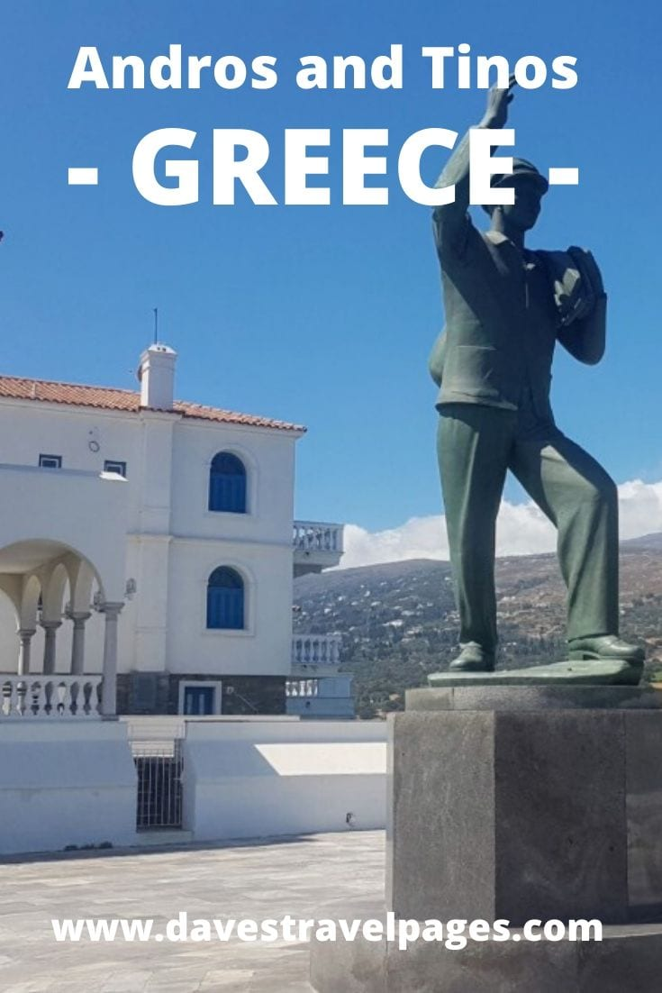 Choosing the best time to visit Andros and Tinos in Greece