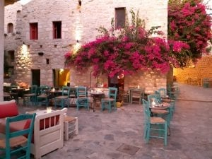 A street cafe in Areopoli Greece