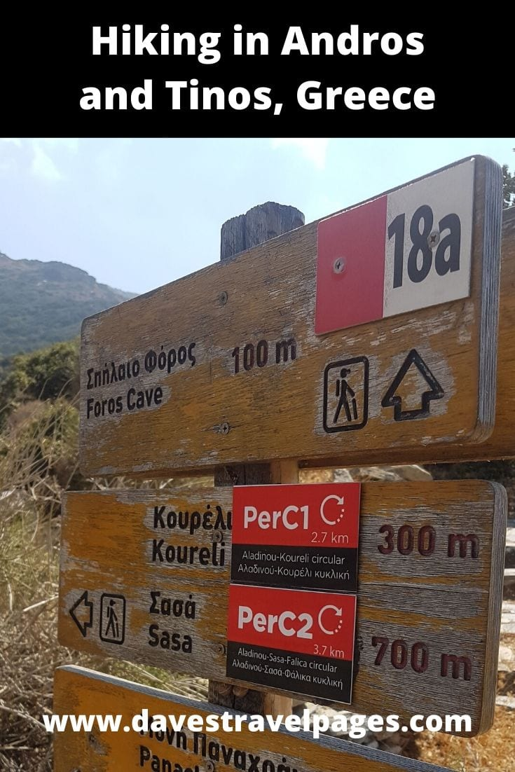 Hiking and other outdoor activities in Andros and Tinos islands in Greece