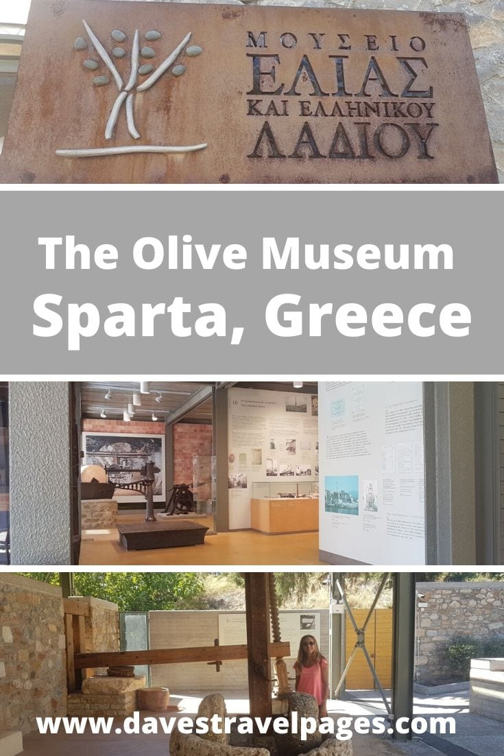 The Olive Museum of Sparta in Greece