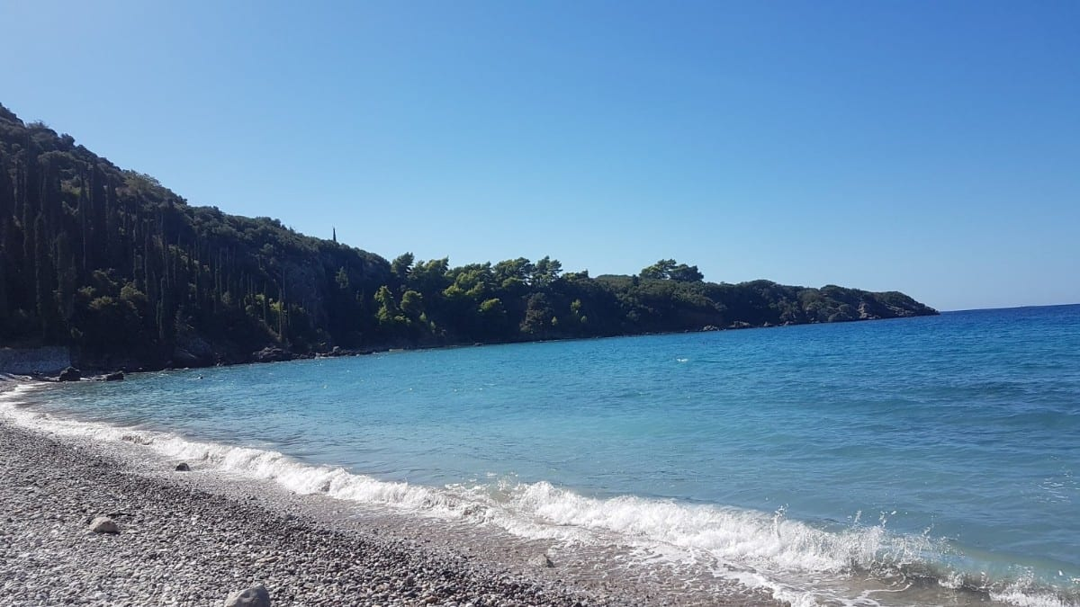 The beach near Patrick Leigh Fermor house