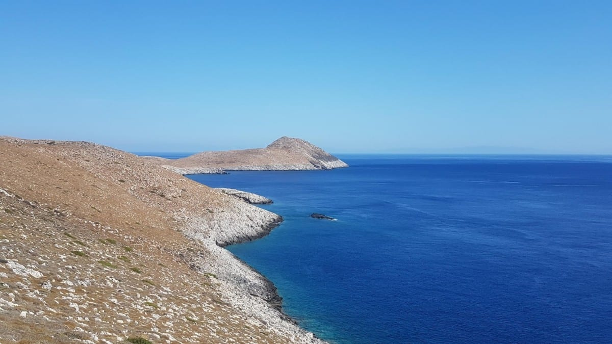 Land meets sea at Cape Tainaron in Mani Greece