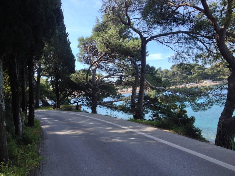 Cycling near Cavtata in Croatia