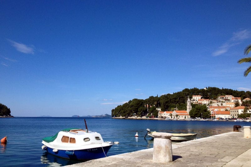 The little bay in Cavtat Croatia