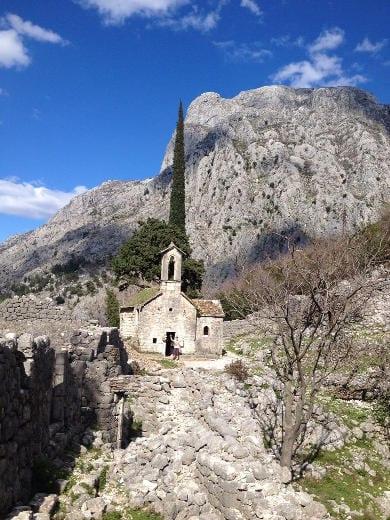 A church near Kotor
