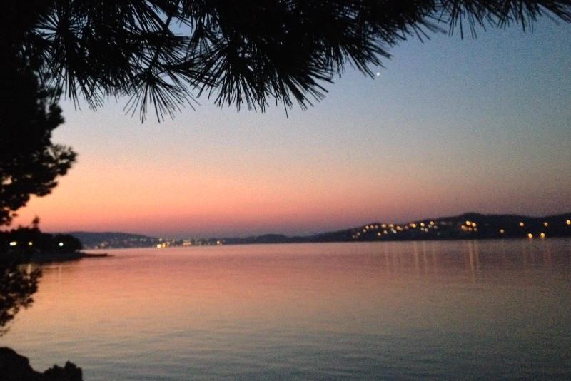Camping out near Split in Croatia