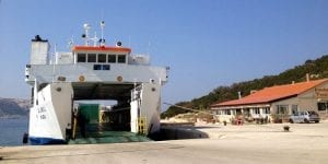 Taking the ferry to Pag island