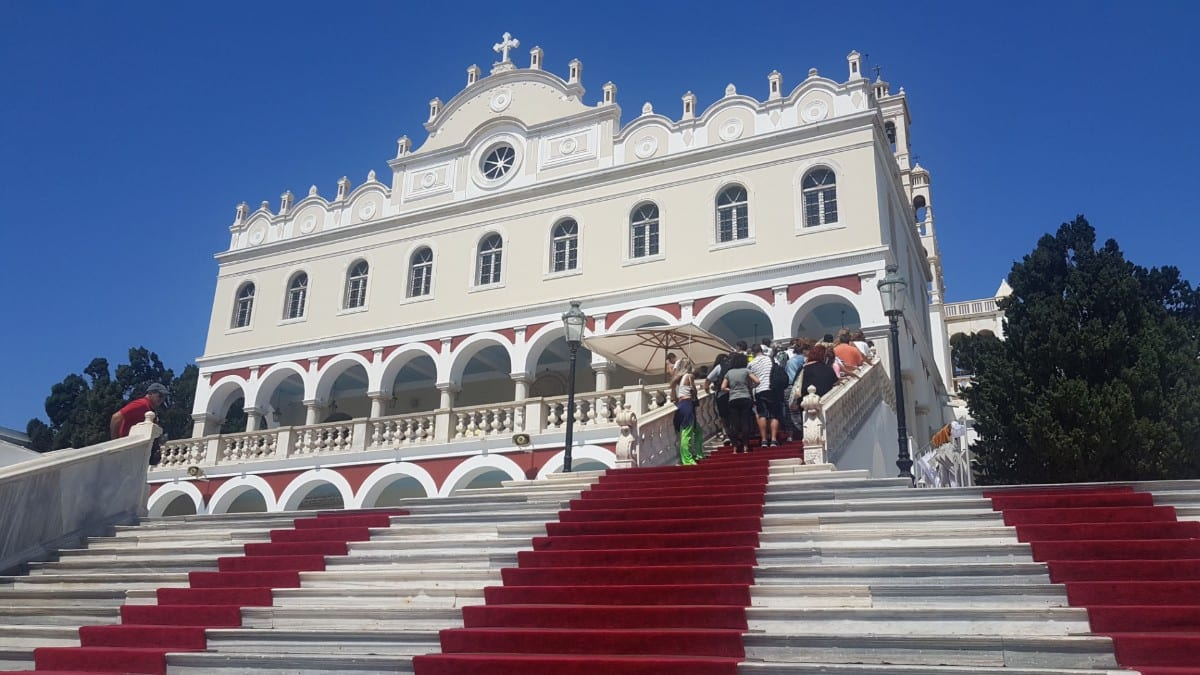 The impressive church in Tinos