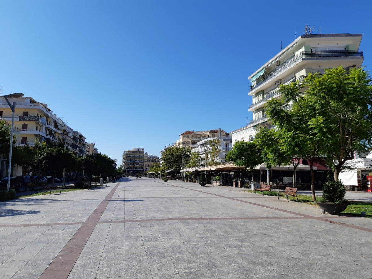 Walking through the centre of Kalamata