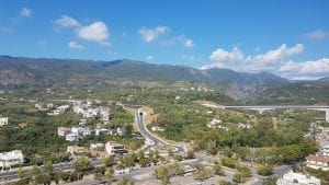 The new road from Athens to Kalamata