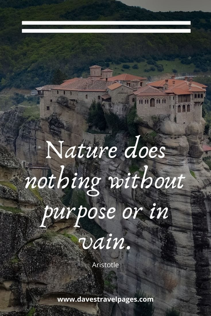 Greece Quotes - Nature does nothing without purpose or in vain - Aristotle