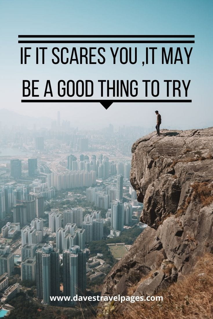 """If it scares you ,it may be a good thing to try""— Seth Godin"