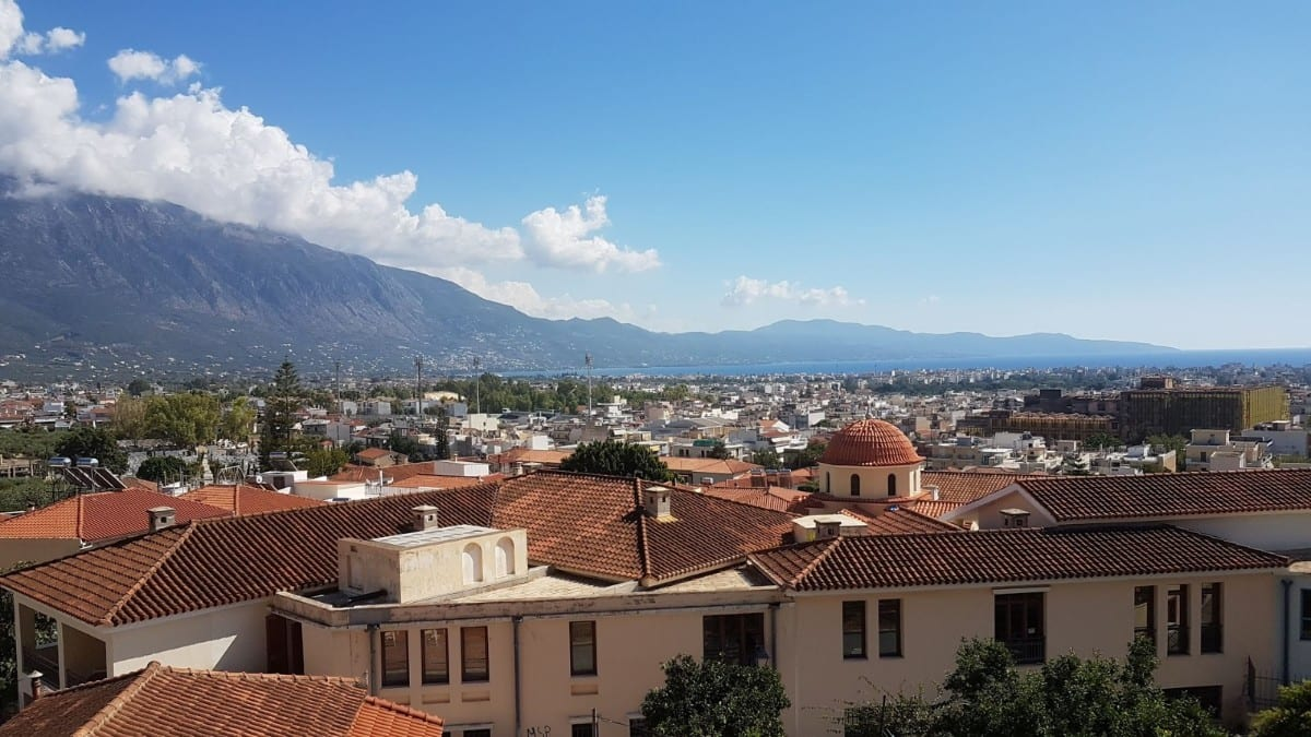 The view from Kalamata castle
