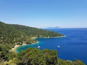 Beautiful coastline of Ithaki