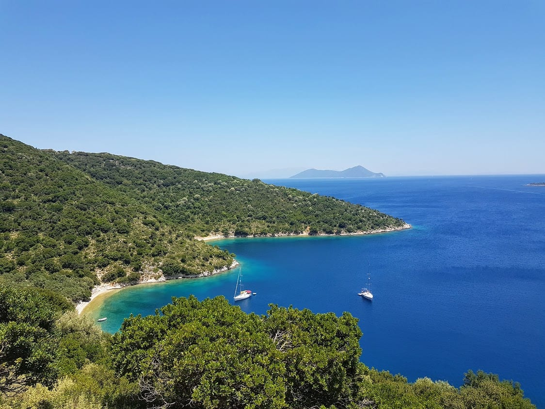 Beautiful coastline of Ithaki