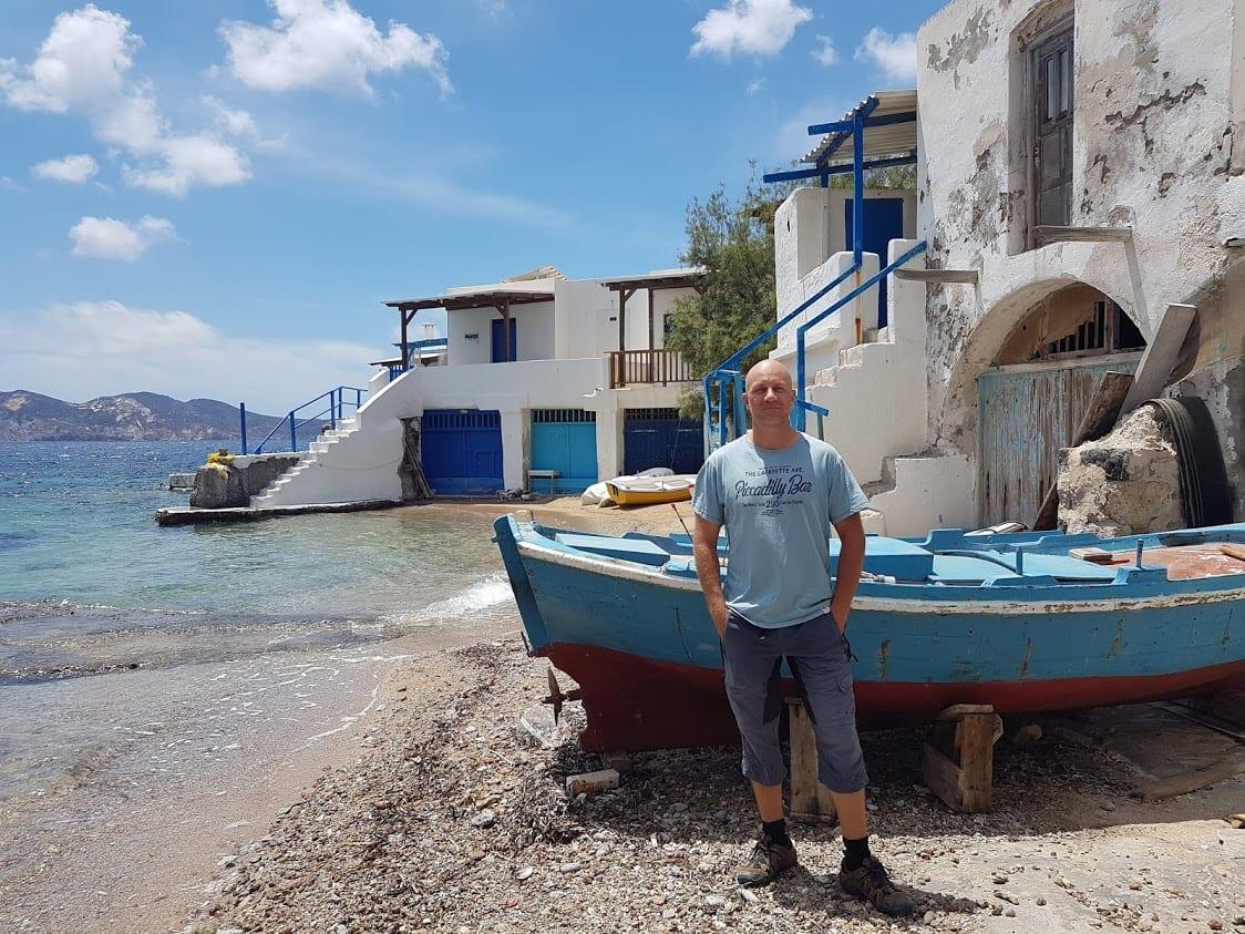 Dave Briggs in Milos