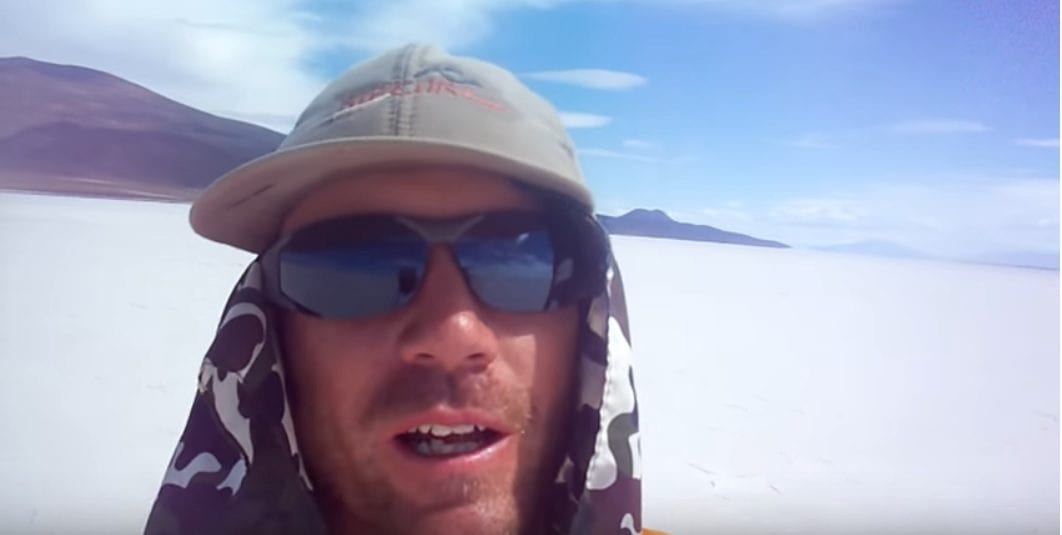 Dave Briggs in the Salt Pan of Bolivia