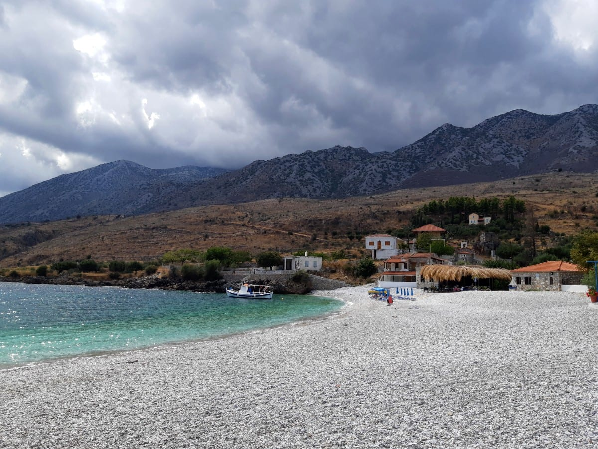 Chalikia Vatta Beach in the Peloponnese of Greece