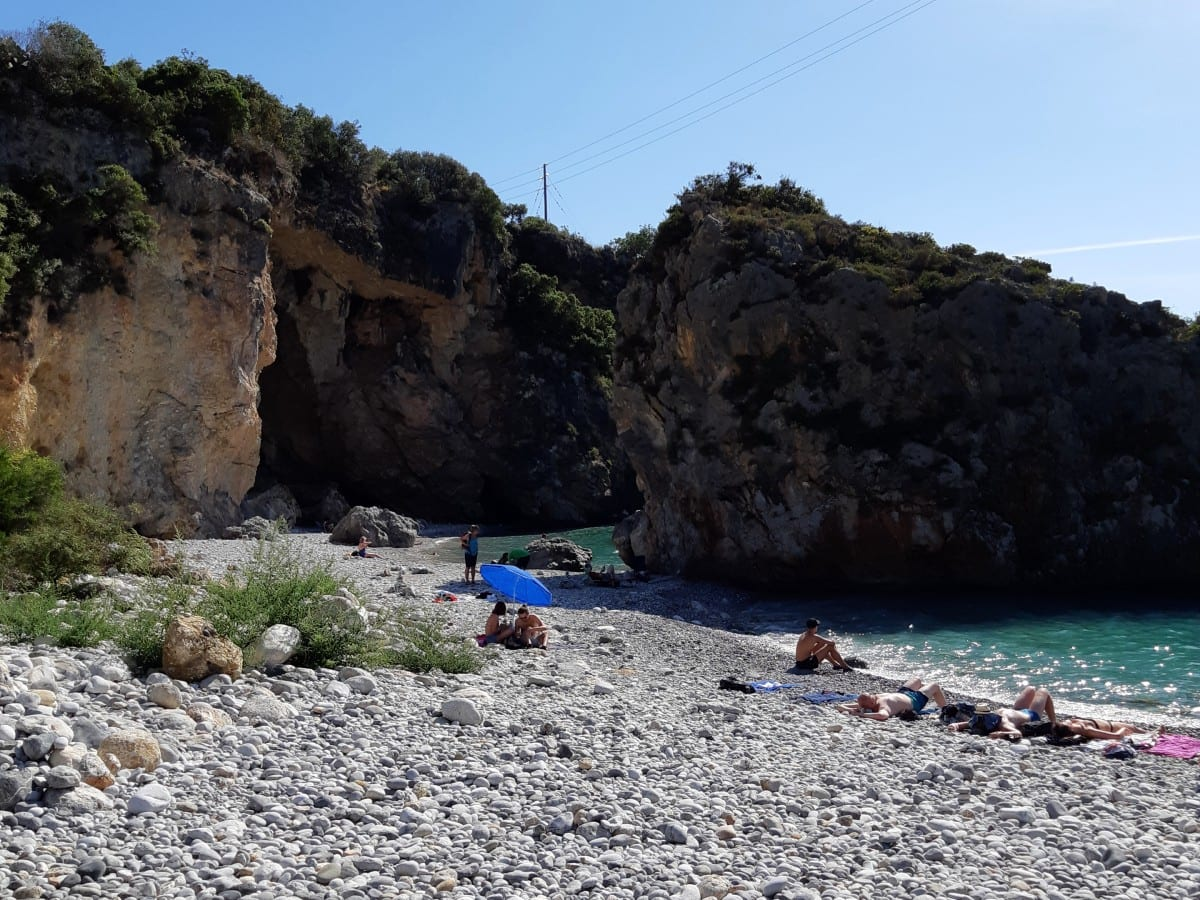 Foneas Beach near Kardamyli in Greece