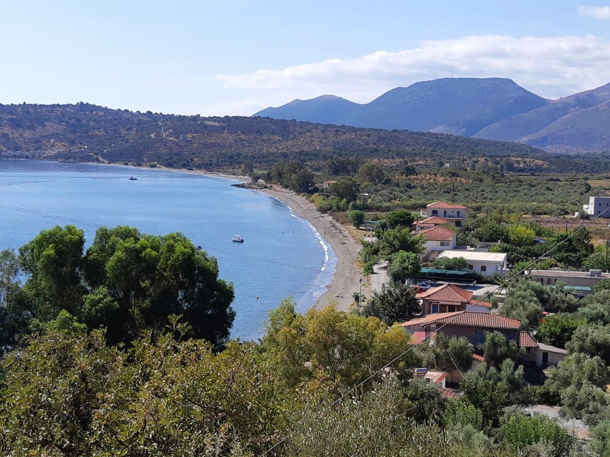 Kamares Beach in the Mani Peninsula of Greece