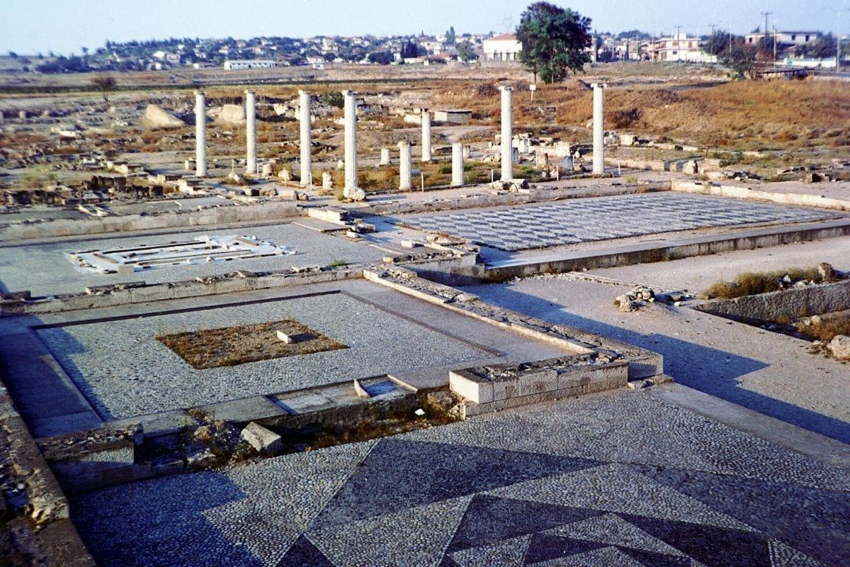 The site of Pella in Greece