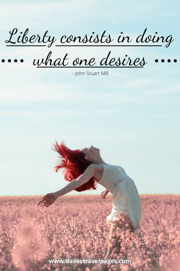 """Liberty consists in doing what one desires"" – John Stuart Mill"