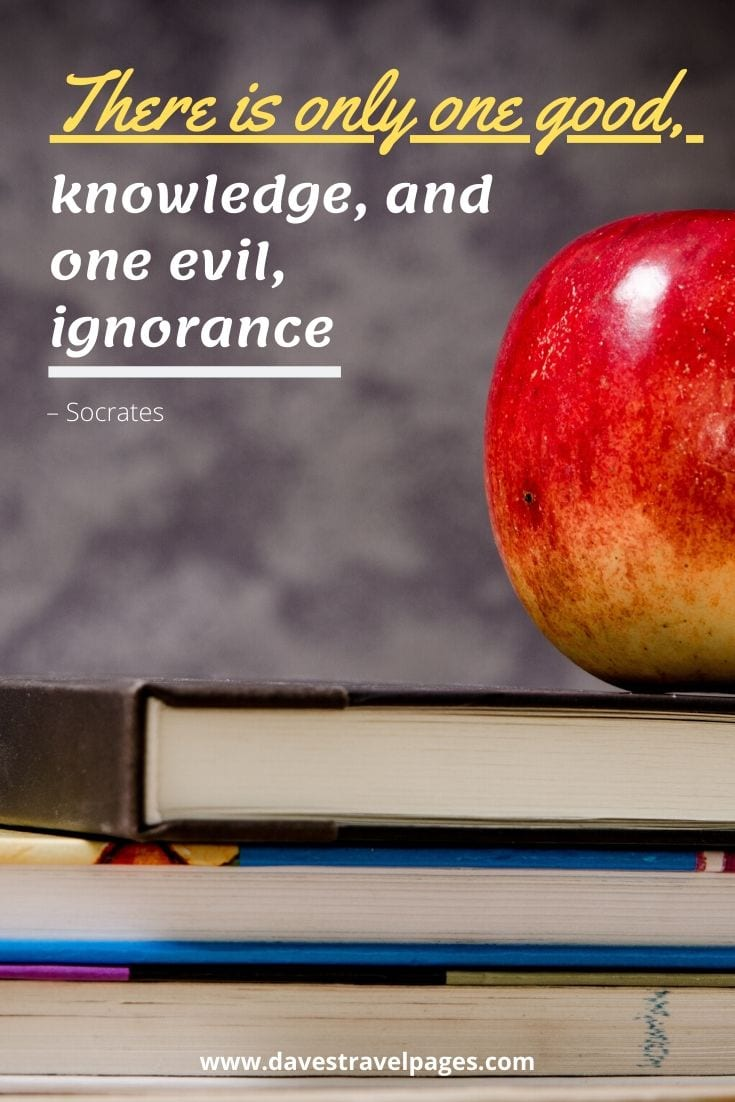 "Greek Philosophical Quote: ""There is only one good, knowledge, and one evil, ignorance"" – Socrates"