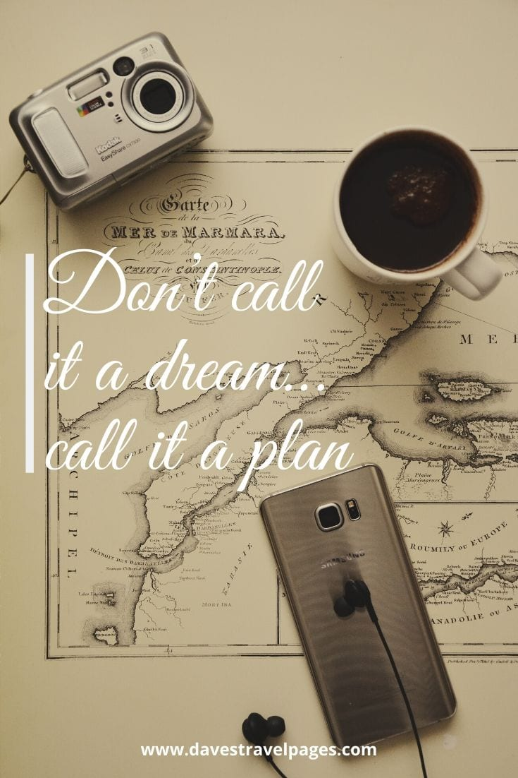 "Best Motivational Quotes: ""Don't call it a dream…call it a plan"""