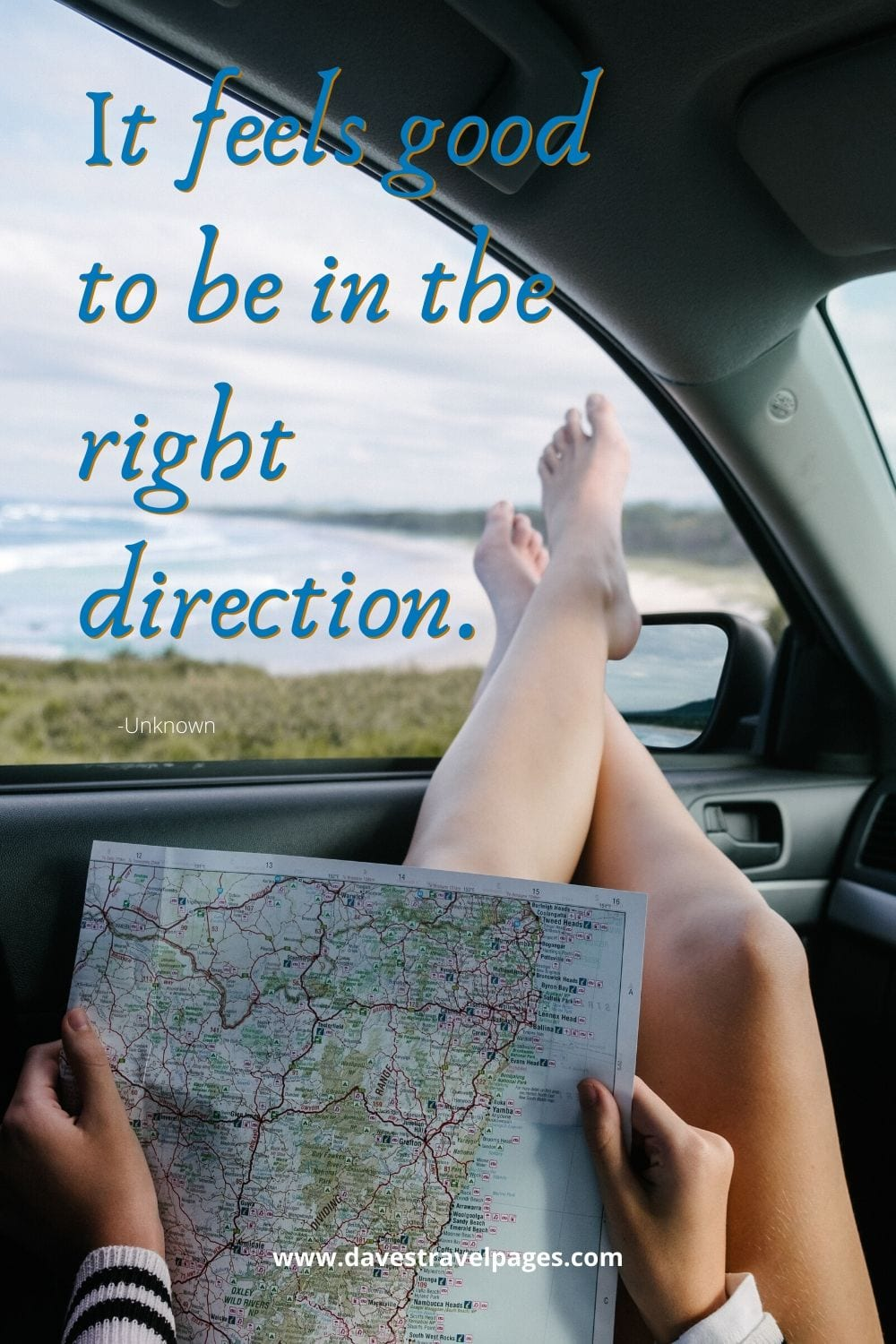 "Famous quotes - ""It feels good to be in the right direction."""