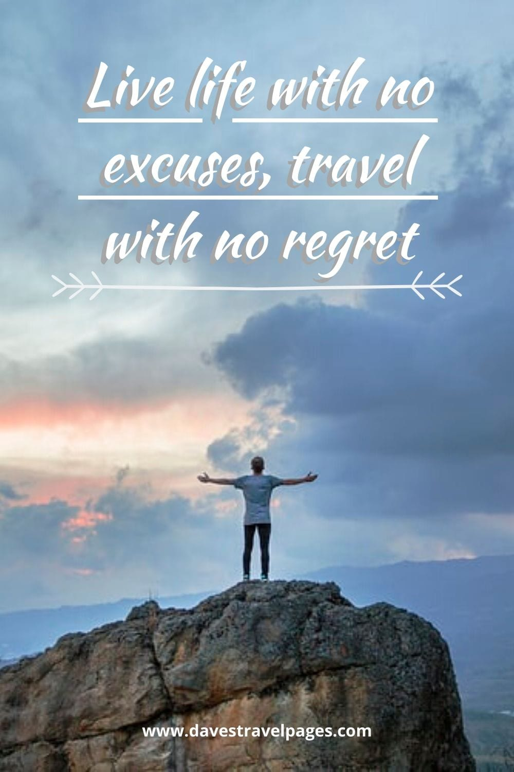 "Oscar Wilde quotes - ""Live life with no excuses, travel with no regret"""