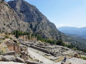 Delphi was a religious centre and most significant of landmarks in ancient greece