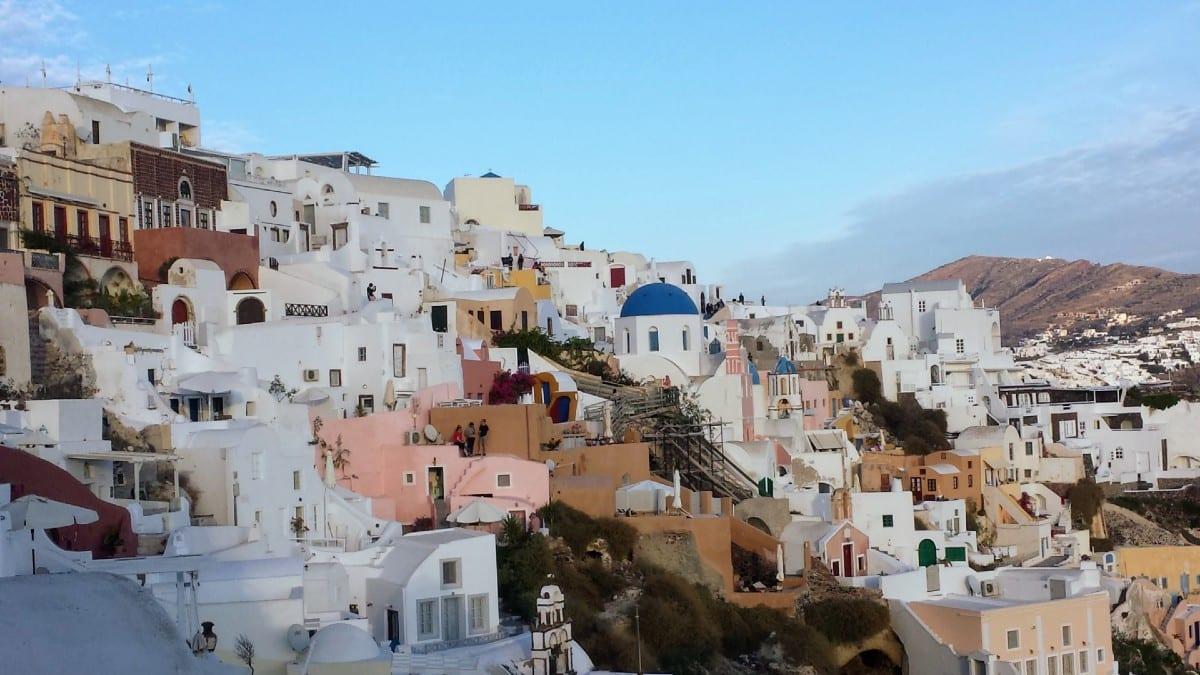 Enjoying Santorini in Greece