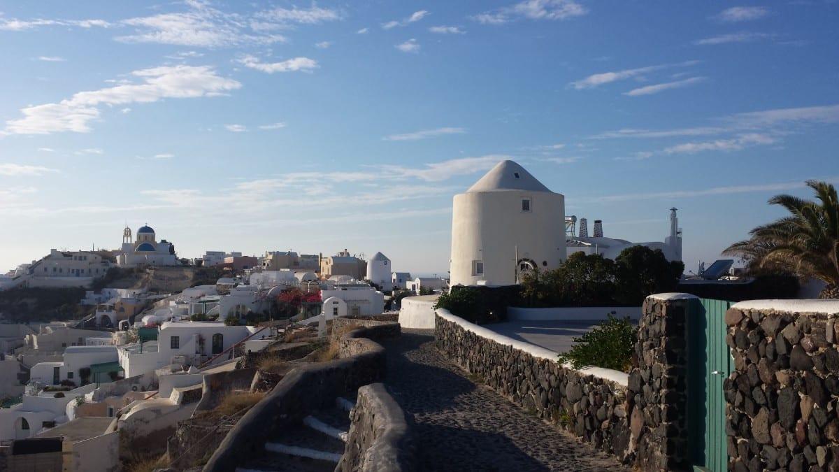 Imerovigli in Santorini Greece