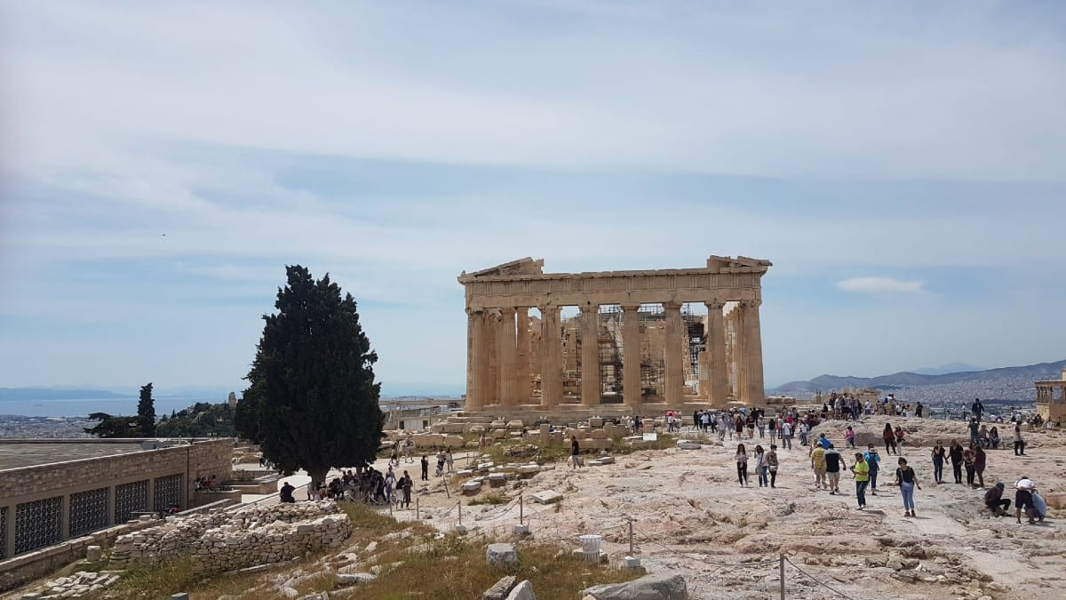 The Parthenon in the Acropolis