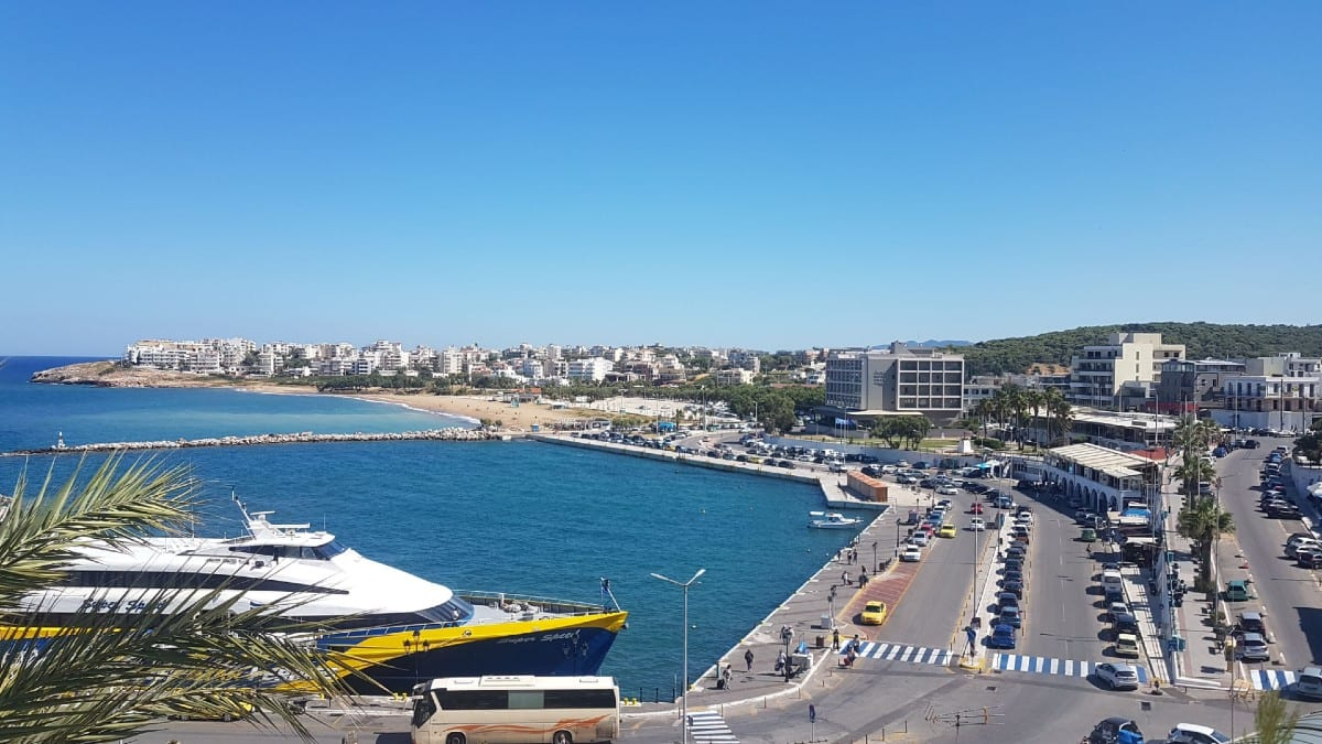 Rafina port in Athens has ferries to many Greek islands in the Cyclades